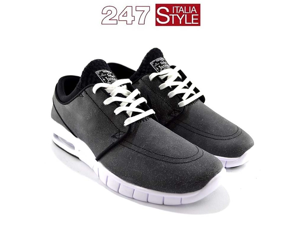 nike stefan janoski max premium black leather prezzo 145 1-40 1-40.5 2-41 2-42 1-42.5 2-43 2-44 1-44.5 1-45 copia