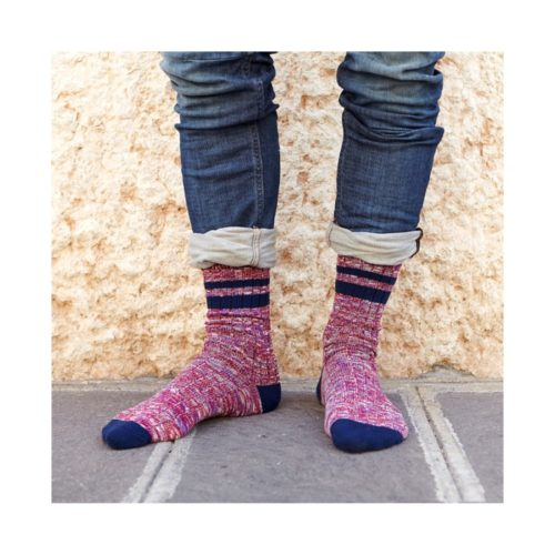 red-winter-sock