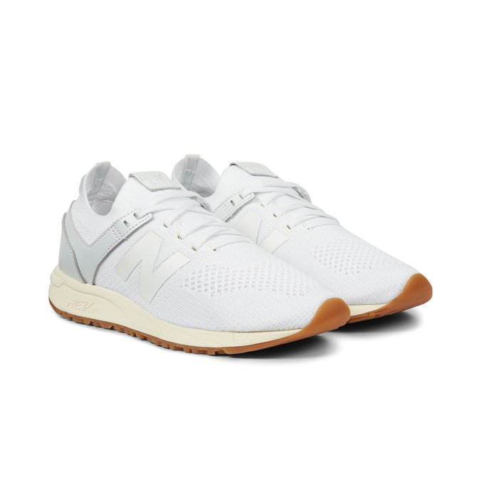 sneakers new balance mrl247 knit textile leather white