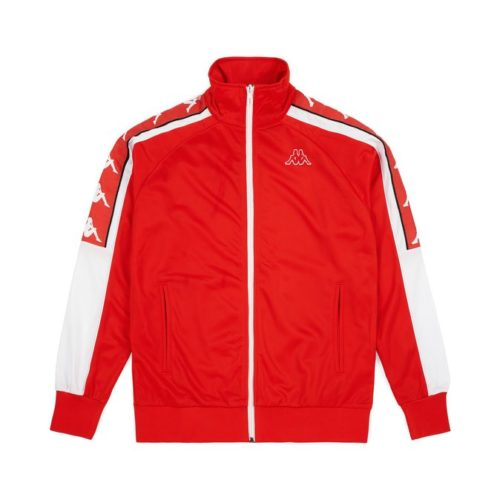 felpe kappa 222 banda ahran jacket red flame white