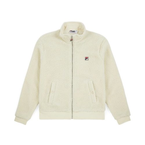felpe fila finch batwing sherpa zip through fleece oyster white