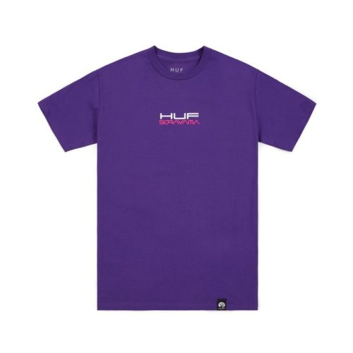 t shirt huf huf x sorayama ride t shirt purple