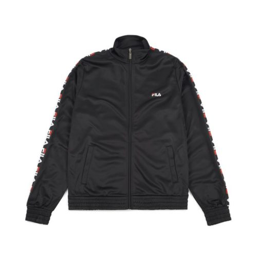 felpe fila tape track jacket black