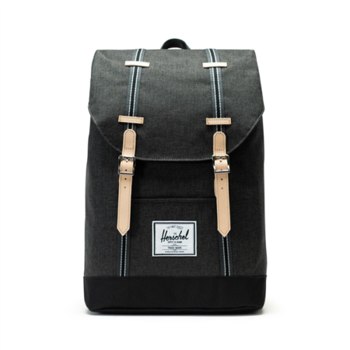 herschel-zaino-retreat-offset-backpack-43x30x15-195l-black-crosshatch-black-10066-02444-os