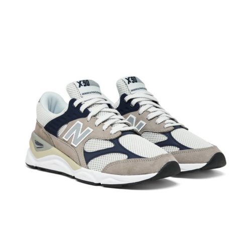sneakers new balance x 90 pigskin mesh grey navy