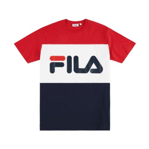 t shirt fila day t shirt black iris true red bright white