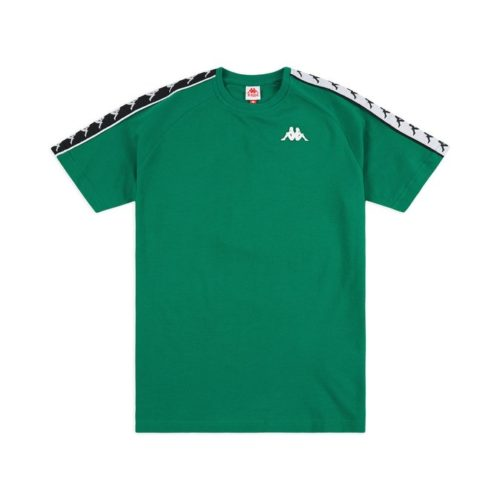 t shirt kappa 222 banda coen slim t shirt green black white